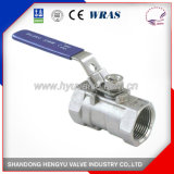 Industrial One Piece Stainless Steel Ball Valve with Handle