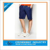 Navy Blue Men's Short Sweatshorts with White Piping