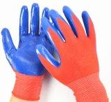 Latex PU Coated Nitrile Work Gloves Wholesale in Guangzhou