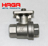 Stainless Steel Dn10 Threaded Direct Mounting Pad 2PC Ball Valve