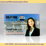 Business Card with Holder's Image Made of Transparent PVC