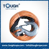 Orange7mmx28m4X4 Synthetic Winch Rope Tough Rope 100% Uhwmpe Fiber