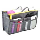 Wholesale 12 Pockets Insert Travel Cosmetic Handbag Organizer Bag