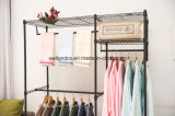 Cheap Canvas Metal Wardrobe Garment Rack for Bedroom Clothes Storage