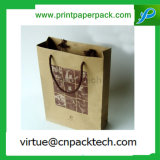 Low Cost Custom Brown Color Regular Kraft Paper Bag for Double Wine Packaging