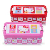 Hello Kitty Double-Decked Stationery Tin Case Metal Pencil Box