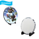 Printable Coated Blank Round Sublimation Photo Slate