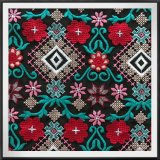 Multy Net Embroidery Fabricmulticolor