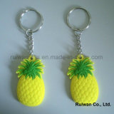 Soft Plastic Keyholder for Fruit Promotional Gifts, PVC Keychain Double Side