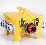 24 Way Portable Yellow Orange Type IP67 Distribution RCD Box