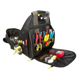 Men's Outdoor Storage Multi-Pocket Electrician Organizer Backpack Tool Bag