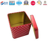 7X7X7cm Square Shaped Gift Tin Box for New Year