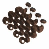 Cheap Raw Unprocessed Indian Dark Brown Color #4 Human Hair Bundles Body Wave Remy Hair Extensions