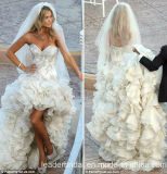 Cascading Ruffles Ball Gowns Jewelry Bridal Wedding Dresses E2083