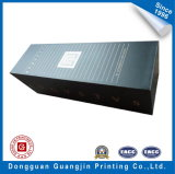 Black Color Paper Foldable Box with Golden Logo