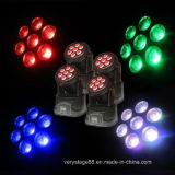 7*12W RGBWA 5 in 1 Mini LED Beam Moving Head Wash Effect Lights