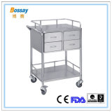 Four Drawers Metal Hospital Trolley