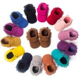 PU Suede Leather Newborn Baby Boy Girl Baby Moccasins Soft Moccs Shoes Fringe Soft Soled Non-Slip Footwear Crib Shoes