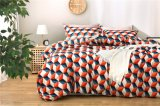 Modern Pop Style Home Textile Fashion Geometry Stereoscopic Digital Printing Cotton Bedding Set