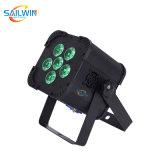 Mini Cheap 6PCS 18W DMX Battery Powered Wireless LED PAR Light PAR64