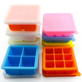 Benhaida Flexible Baby Food Storage Freezer Container, Reusable Silicone Ice Cube Tray with Lid