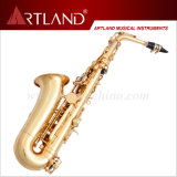 Eb Key Golden Lacquer Finish Professional Alto Saxophone (AAS6506G)