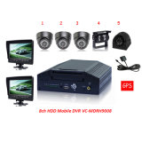 School Bus Mobile DVR -- Ce FCC RoHS H. 264, 8CH with 7 Inch LCD School for Bus Security