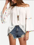Ladies Fashion Tops Leisure Apparel Summer Clothing Wholesale Cheap