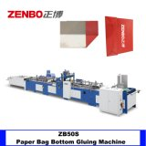 Semi-Automatic Shopping Paper Bag Bottom Taping Machine with Hot Glue System Zenbo Machinery Zb50s