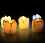 Flickering LED Tealight Candles/Dripping Wax LED Tea Lights