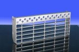 Jiulong Hot Dipped Galvanized Grating Stair Treads Staircase with Slip Resistant Nosing for Flooring Grating Walkway