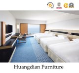 Modern Design Hotel Bed Room Furniture Set Wooden Hospitality Furniture (HD626)