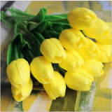 Guangdong Flower Factory Mini Plastic Artificial Flower Real Touch Tulip
