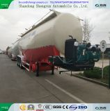 55 Cbm Cement Tank Trailer with Combined Diesel Engine and Air Compressor