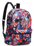 Leisure Colorful Printing School Backpack for Teenagers