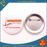 Wholesale Cheap Customized Logo Metal Police Military Emblem Name Tin Button Badge Lapel Pin Tin Button Badge with Safety Pin