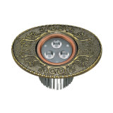 Brass LED Villa Downlight with Antique Acu Finish