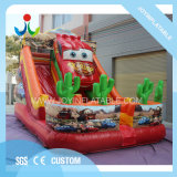 Crazy Racing Theme Bouncer Inflatable Kids Slide for Family
