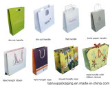 Paper Shopping Bag with Die Cut Handle or Flat Handle