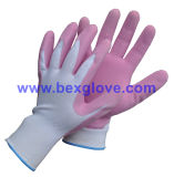 13 Gauge Nylon Liner, Latex Coating, Foam Finish Glove
