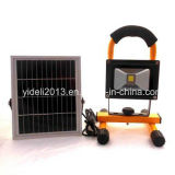 Rechargeable Battery Emergency Work LED Outdoor Flood Light 5W 10W 20W with Solar Panel