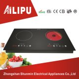 Metal Shell Two Hotplate Electric Cooktop, Induction Cooker with Infrared Cooker