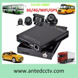 1080P SD Card 4 Channel School Bus DVR with GPS WiFi
