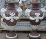 Stone Marble Urn for Garden (QFP338)
