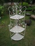 Outdoor and Indoor Creamy White Standing 3-Tier Metal Shelf