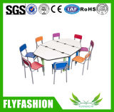 Hot Sale Daycare Furniture Kid′s Table and Chair Set (SF-38C)