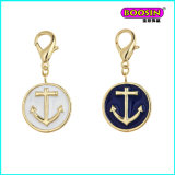 Fashion New Design Custom Enamel Anchor Gold Pendant