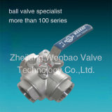 3-Way Ball Valve with High Mount Pad