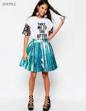 Africa Tennis Sport Pleated Mini Skirt in Matalli PU