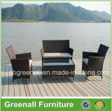 4PCS Kd Style Cheap Synthetic Outdoor Rattan Garden Sofa Chair Furniture Set